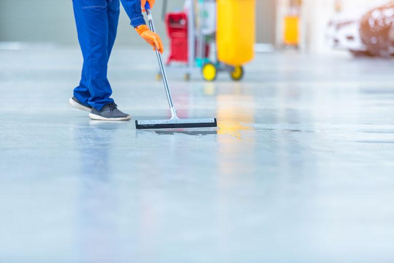 limpieza de un local